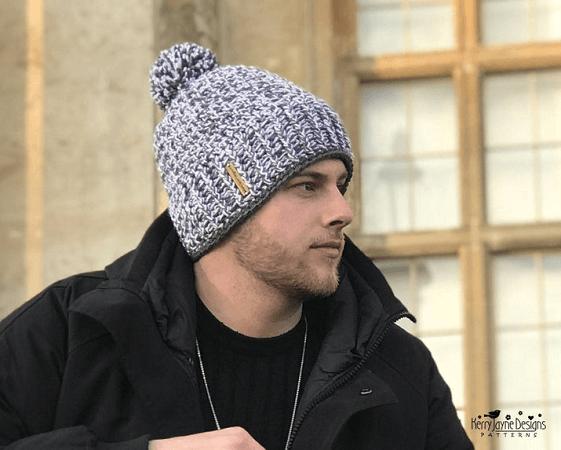 Men's Crochet Hat Pattern by Kerry Jayne Designs