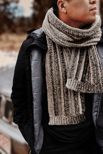 Men's Crochet Scarf Pattern by Darling Jadore
