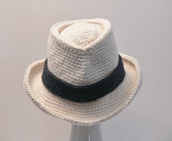 Men's Fedora Hat Crochet Pattern by Meadowvale Studio