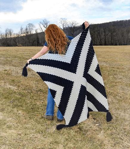 Modern Corner To Corner Crochet Blanket Pattern by Make And Do Crew