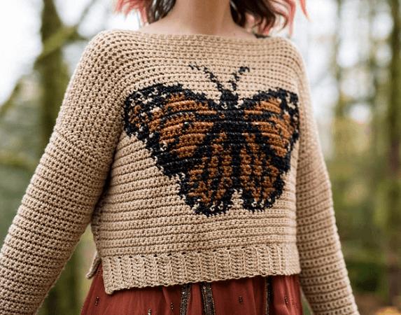 Monarch Sweater Crochet Pattern by Hailey Bailey