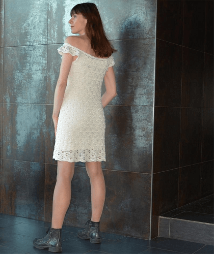 Dress Off Shoulder Crochet Top Pattern by Concept Creative Store