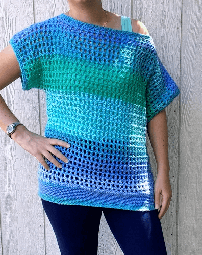 Off Shoulder Crochet Top Pattern by Croyden Crochet