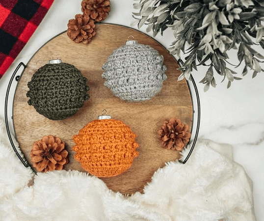 Picot Tree Ornament Crochet Pattern by The Turtle Trunk