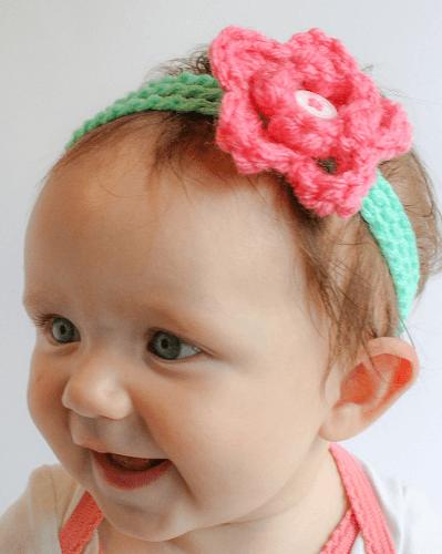 Rosey's Headband Free Crochet Pattern by Winding Road Crochet