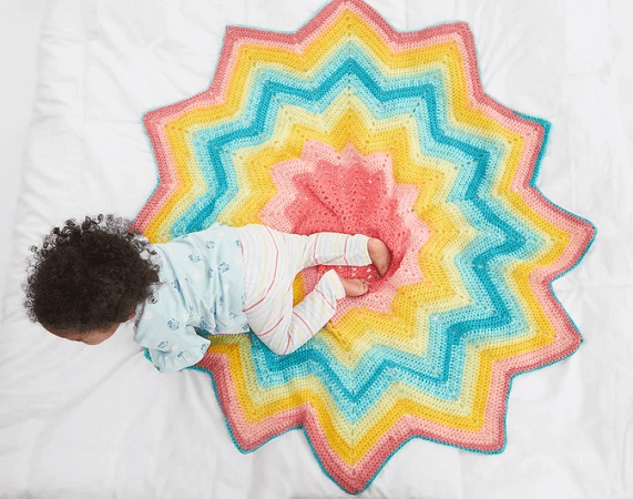 Starburst Blanket Crochet Pattern by Lion Brand