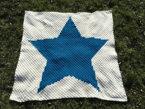Super Star Crochet Blanket Pattern by Sew Sew Baby Store