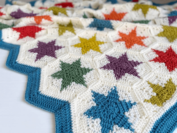 Super Stars Blanket Crochet Pattern by Catherine Crochets