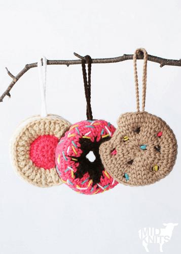 Sweet Treats Ornaments Crochet Pattern by Midknits