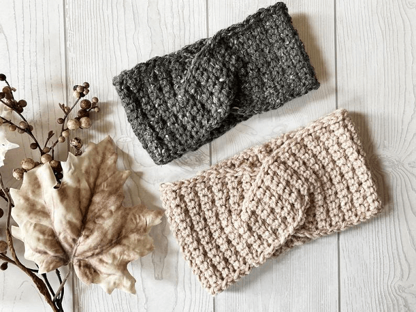 Tatum Twisted Headband Crochet Pattern by Ruby Webbs