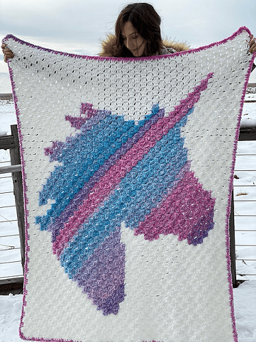 Unicorn Dreams Afghan Crochet Pattern by Evelyn And Peter