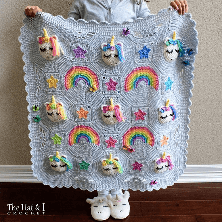 Utopia Unicorn Crochet Blanket Pattern by The Hat And I
