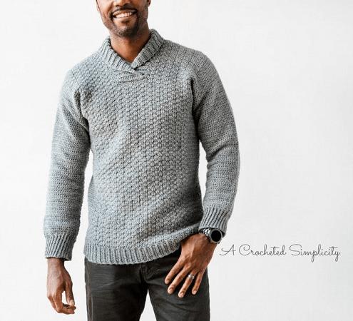 Wulf Men's Pullover Crochet Pattern by A Crocheted Simplicity