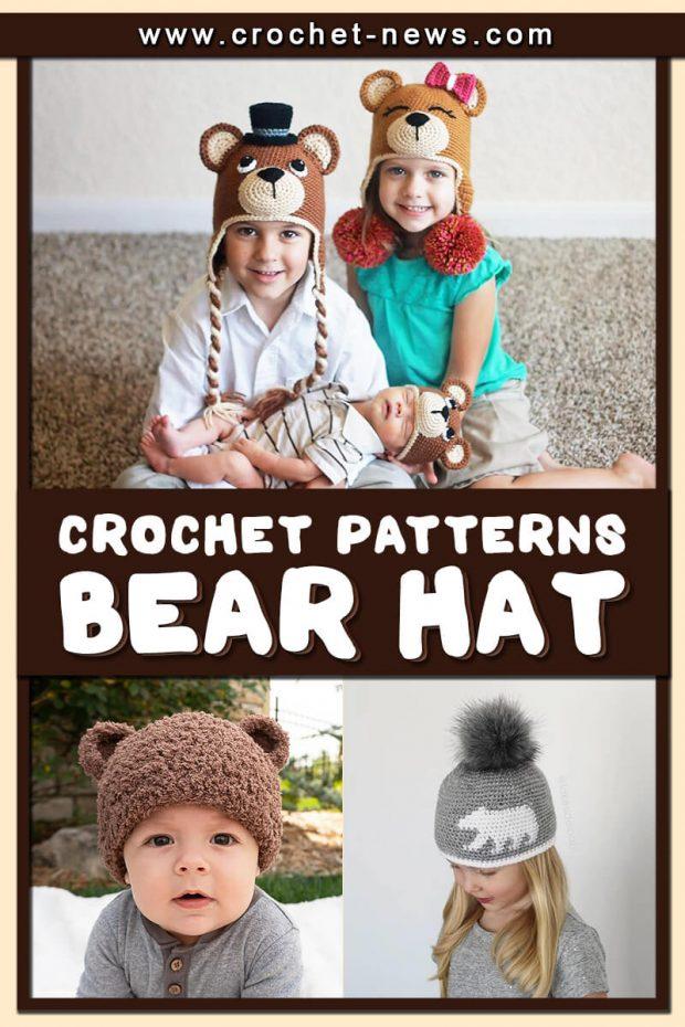 CROCHET BEAR HAT PATTERNS