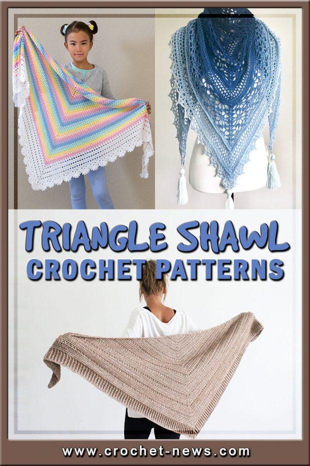 TRIANGLE SHAWL CROCHET PATTERNS