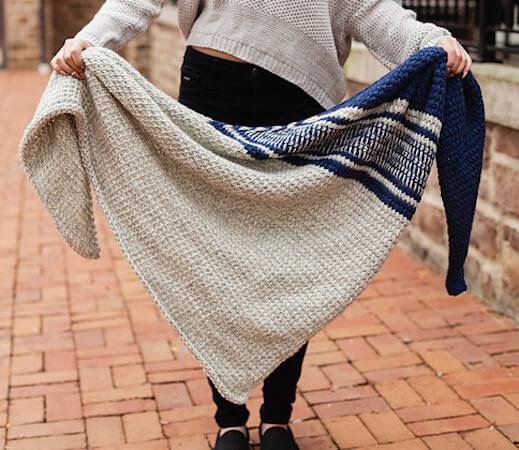 Ada Triangle Shawl Crochet Pattern by TL Yarn Crafts
