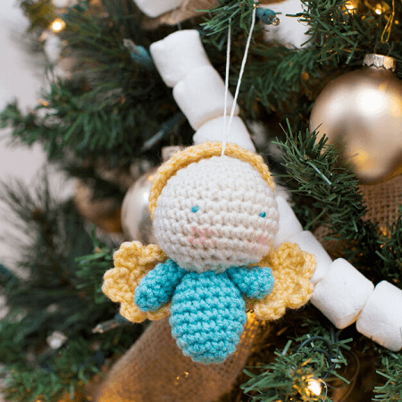 Amigurumi Angel Ornament Crochet Pattern by Red Heart