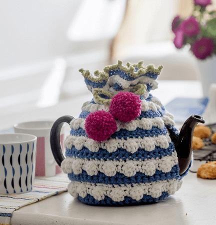 Bobble Tea Cosy Crochet Pattern by Nicki Trench