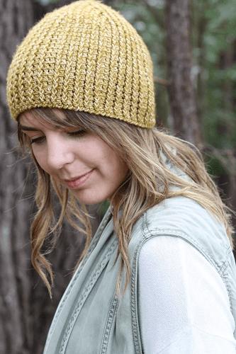 Branch Out Beanie Crochet Pattern by Kay Krochets