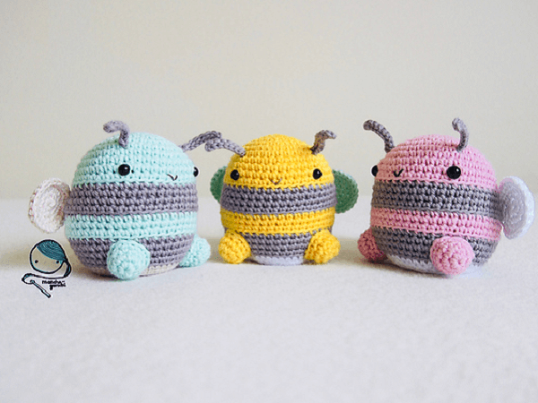 Bumble Bee Crochet Pattern by Annamaria Majlath
