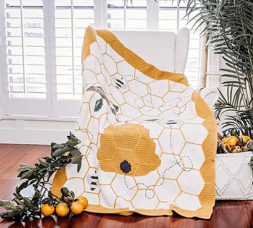 Buzzing Beehive Crochet Blanket Pattern by Briana K Designs