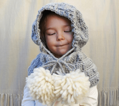 Celeste Hooded Cowl Crochet Pattern by Naturally Nora Crochet