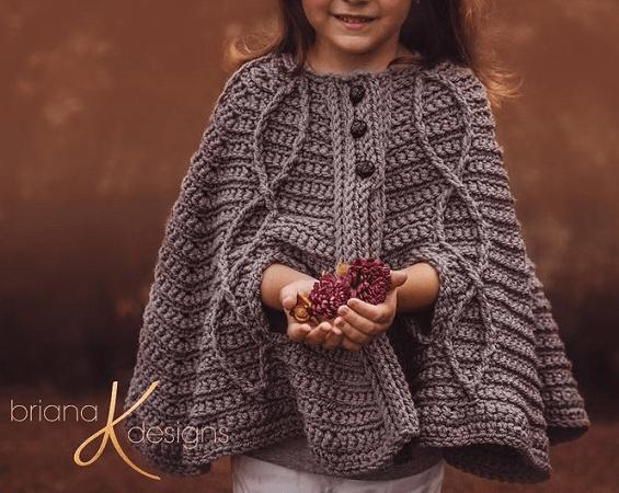 Children's Infinity Cape Crochet Pattern by Briana K Designs