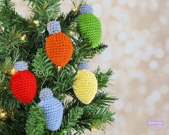 Christmas Lights Ornament Crochet Pattern by Sewrella