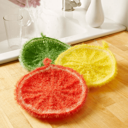 Citrus Dish Scrubber Crochet Pattern by Red Heart