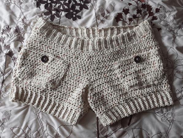 Comfy Cotton Shorts Free Crochet Pattern by 365 Crochet