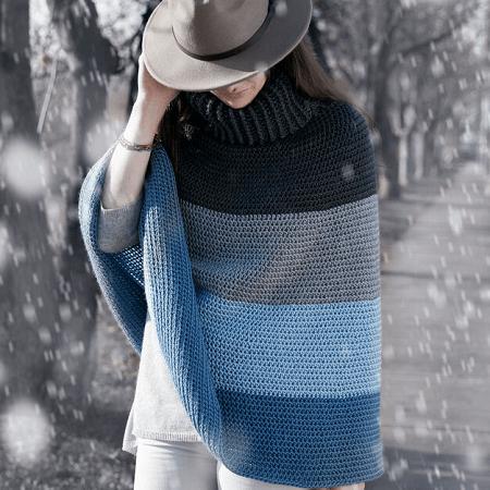 Cozy Cowl Cape Crochet Pattern by Yarnspirations