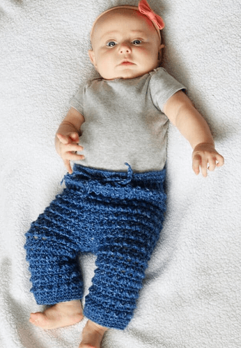 Baby Free Crochet Pants Pattern by Two Brothers Blankets