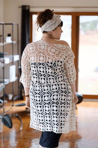 Crochet Beach Cover Up Pattern by Crochet Coach