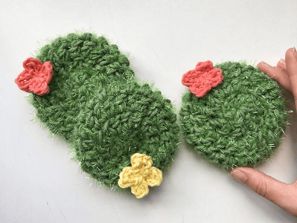 Crochet Cactus Dish Scrubber Pattern by Belle And Bean Crochet