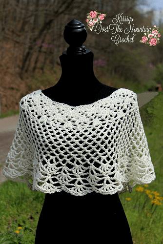 Crochet Capelet Ponchette Pattern by Patterns By Krissy