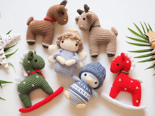 Crochet Christmas Decorations Amigurumi Pattern by R Nata