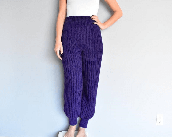 Crochet Cozy Sweatpants Pattern by I Love Tinder Box