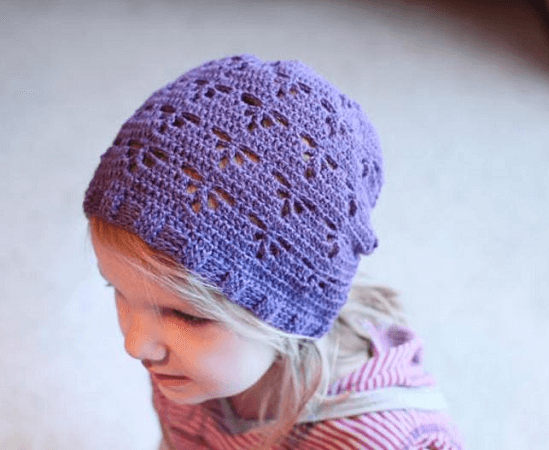Crochet Dragonfly Slouch Hat Pattern by Mamachee
