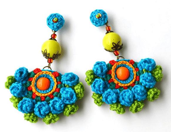 Crochet Earrings Pattern by Marmotescu