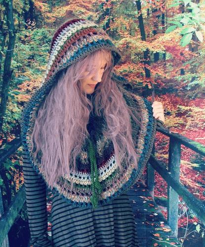 Crochet Hooded Cape Pattern by Morale Fiber