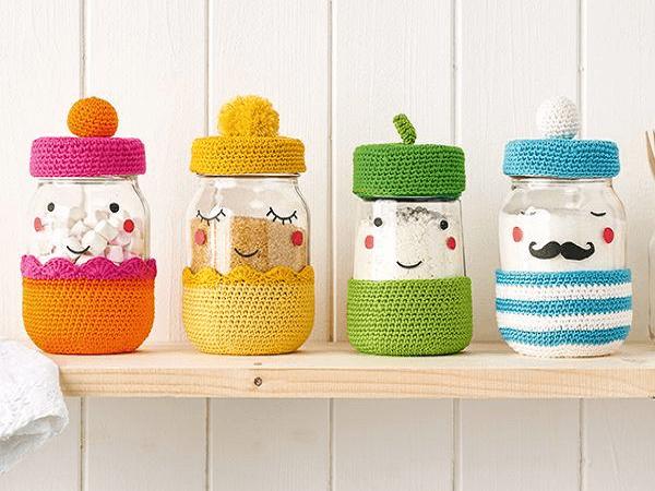 Crochet Jar Covers Pattern by Phoebe Burt