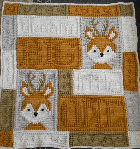 Crochet Little One Blanket Pattern by Colors And Shape Design