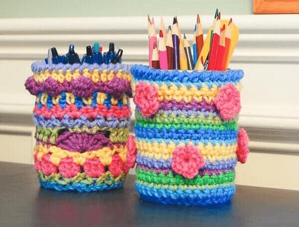 Crochet Mason Jar Cozy Pattern by Petals To Picots