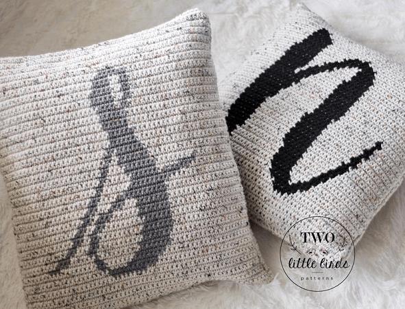 Crochet Monogram Pillow Pattern by TLB Patterns