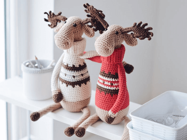 Crochet Moose Pattern by Firefly Crochets