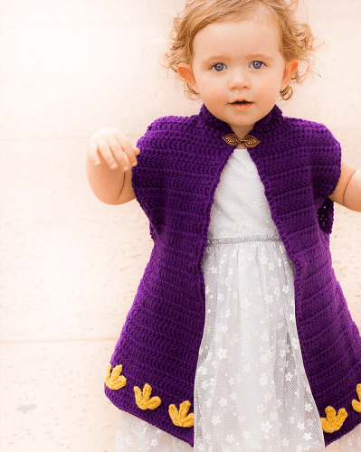 Crochet Princess Cape Pattern by Winding Road Crochet