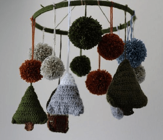 Crochet Woodland Baby Mobile Pattern by Sewrella
