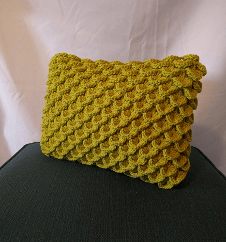 Crocodile Stitch Pillow Crochet Pattern by Knit A Bit Crochet Away