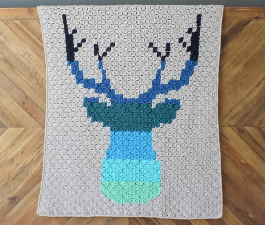 Deer C2C Blanket Crochet Pattern by Make And Do Crew
