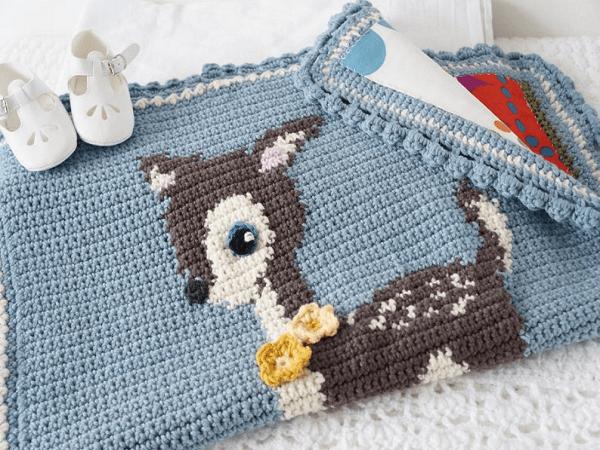 Deer Crochet Blanket Pattern by Little Doolally